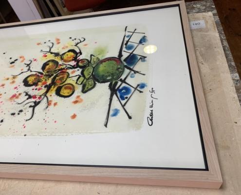 Exemple d'encadrement pour les œuvres de Chaïm Rosenthal disponible à l'Atelier - Oeuvre de Chaïm Rosenthal